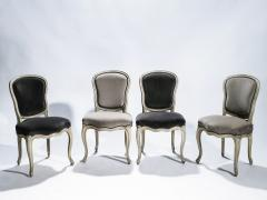 Maison Jansen Rare Set of Six Stamped Maison Jansen Louis XV Chairs and Armchairs 1940s - 1829982