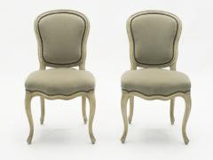 Maison Jansen Rare Set of Six Stamped Maison Jansen Louis XV Chairs and Armchairs 1940s - 1829990