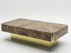 Maison Jansen Rare golden lacquer and brass Maison Jansen coffee table 1970 s - 994616