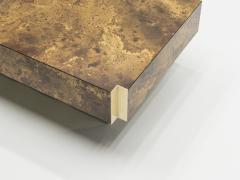 Maison Jansen Rare golden lacquer and brass Maison Jansen coffee table 1970 s - 994617