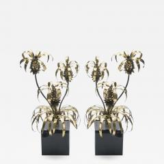Maison Jansen Rare pair of Hollywood Regency brass Maison Jansen Pineapple floor lamps 1970s - 998490