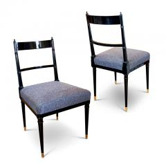 Maison Jansen Set of four lacquered Neoclassical side chairs by Maison Jansen - 1166870