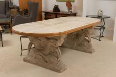 Maison Jansen Stone and Parchment Top Table - 304228