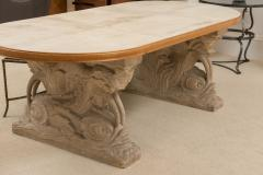 Maison Jansen Stone and Parchment Top Table - 304229
