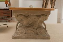 Maison Jansen Stone and Parchment Top Table - 304230