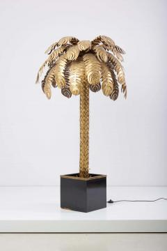 Maison Jansen Very Impressive Brass Palm Floor Lamp by Maison Jansen - 1478338