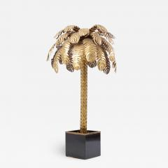 Maison Jansen Very Impressive Brass Palm Floor Lamp by Maison Jansen - 1482104