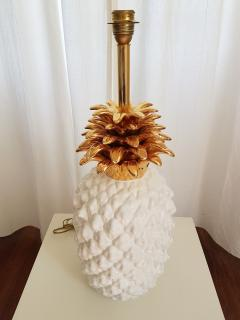 Maison Lancel LARGE CERAMIC PINEAPPLE LAMP MID CENTURY MODERN FRANCE BY MAISON LANCEL - 897056