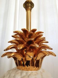 Maison Lancel LARGE CERAMIC PINEAPPLE LAMP MID CENTURY MODERN FRANCE BY MAISON LANCEL - 897060
