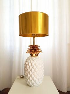 Maison Lancel LARGE CERAMIC PINEAPPLE LAMP MID CENTURY MODERN FRANCE BY MAISON LANCEL - 897063
