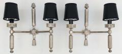 Maison Lancel Pair of Silvered Bronze Maison Lancel Sconces - 982828