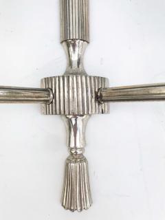 Maison Lancel Pair of Silvered Bronze Maison Lancel Sconces - 982829