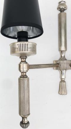 Maison Lancel Pair of Silvered Bronze Maison Lancel Sconces - 982831