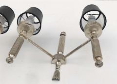 Maison Lancel Pair of Silvered Bronze Maison Lancel Sconces - 982833
