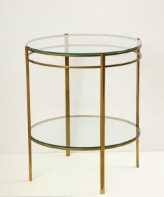 Maison Malabert Glass and Brass Side Table by Jaques Quinet for Maison Malabert - 922607