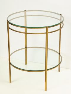 Maison Malabert Glass and Brass Side Table by Jaques Quinet for Maison Malabert - 922609