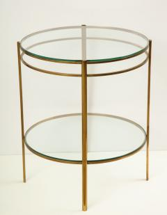 Maison Malabert Glass and Brass Side Table by Jaques Quinet for Maison Malabert - 922610