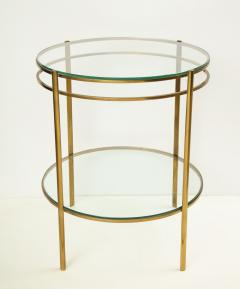 Maison Malabert Glass and Brass Side Table by Jaques Quinet for Maison Malabert - 922613