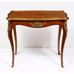 Maison Millet Maison Millet a Louis XV Style Ormolu Mounted Parquetry Kingwood Table - 1111814
