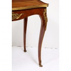 Maison Millet Maison Millet a Louis XV Style Ormolu Mounted Parquetry Kingwood Table - 1111815