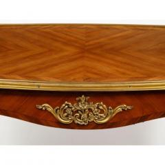 Maison Millet Maison Millet a Louis XV Style Ormolu Mounted Parquetry Kingwood Table - 1111817