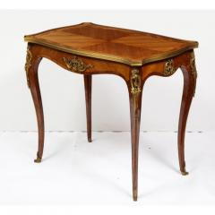 Maison Millet Maison Millet a Louis XV Style Ormolu Mounted Parquetry Kingwood Table - 1111819