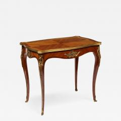 Maison Millet Maison Millet a Louis XV Style Ormolu Mounted Parquetry Kingwood Table - 1112273