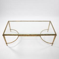 Maison Ramsay Maison Ramsay France Golden Iron and Glass Coffee or Cocktail Table - 1276084