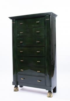 Maison Ramsay Maison Ramsay Paris Green Lacquered Wood Semainier Weekly Furniture - 1124070