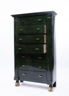 Maison Ramsay Maison Ramsay Paris Green Lacquered Wood Semainier Weekly Furniture - 1124071