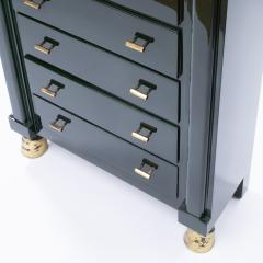 Maison Ramsay Maison Ramsay Paris Green Lacquered Wood Semainier Weekly Furniture - 1124075