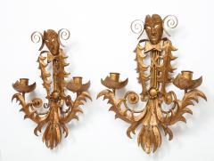 Maison Ramsay Venise carnival themed unusual sconces France 1960s - 1056333
