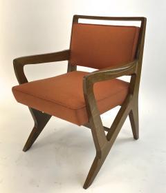 Maison Raphael rarest set of 4 oak arm chairs - 1519260