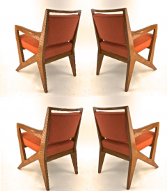 Maison Raphael rarest set of 4 oak arm chairs - 1519287
