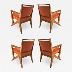 Maison Raphael rarest set of 4 oak arm chairs - 1522994