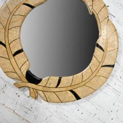 Maitland Smith Art deco revival tessellated marble low console table mirror - 2066117