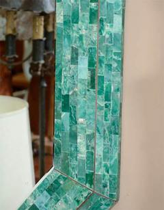 Maitland Smith Elegant Emerald Maitland Smith Large Tessellated Marble Mirror - 410868