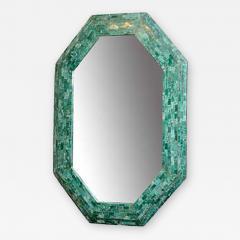 Maitland Smith Elegant Emerald Maitland Smith Large Tessellated Marble Mirror - 411312