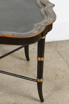 Maitland Smith Hand Painted Black Tray Coffee Table By Maitland Smith    338953