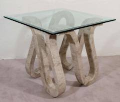 Maitland Smith High End Modernist Pair of Maitland Smith Tessellated Marble Tables - 459976