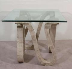 Maitland Smith High End Modernist Pair of Maitland Smith Tessellated Marble Tables - 459977