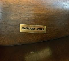 Maitland Smith Maitland Smith Embossed Oval Chest of Drawers with Tooled Leather - 1144395
