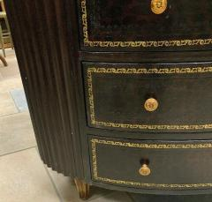 Maitland Smith Maitland Smith Embossed Oval Chest of Drawers with Tooled Leather - 1144401