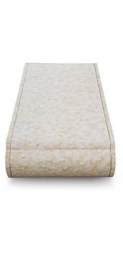 Maitland Smith Maitland Smith Tesselated Bone Coffee Table with Brass Edge Detail - 1177041