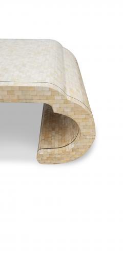 Maitland Smith Maitland Smith Tesselated Bone Coffee Table with Brass Edge Detail - 1177043
