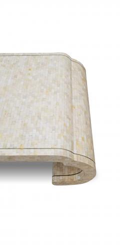 Maitland Smith Maitland Smith Tesselated Bone Coffee Table with Brass Edge Detail - 1177044