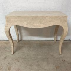 Maitland Smith Maitland Smith Tessellated Travertine Coral Stone Desk or Console Table 1970s - 1644518