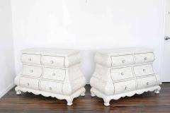 Maitland Smith Pair of Maitland Smith Tessellated Marble Bombe Chests - 1264538