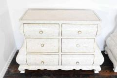 Maitland Smith Pair of Maitland Smith Tessellated Marble Bombe Chests - 1264539