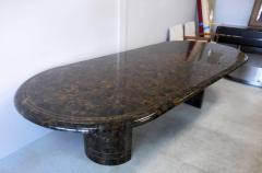 Maitland Smith Penn Shell and Brass Dining or Conference Table by Maitland Smith - 598255